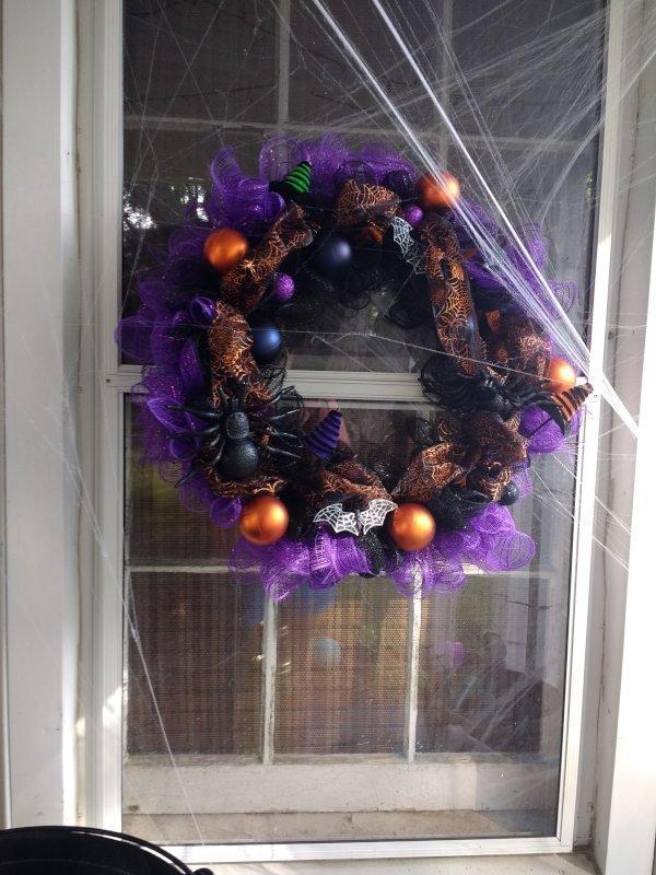 Deco Mesh Halloween Wreath