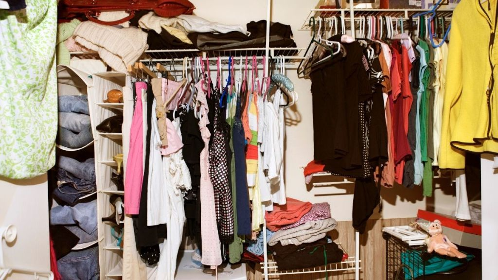 Cleaning a Messy Closet