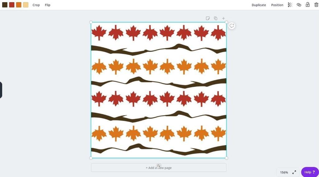 Canva pattern file