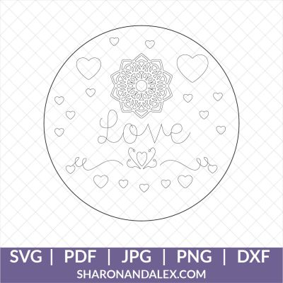 Love Linetype Drawing for Engraving
