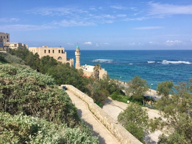 Views of the Mediterranean Sea from Old Jaffa