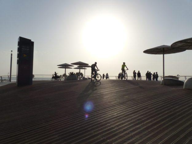 Sunset on the Tel Aviv promenade