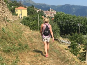 Gym bag hiking Triora Italy