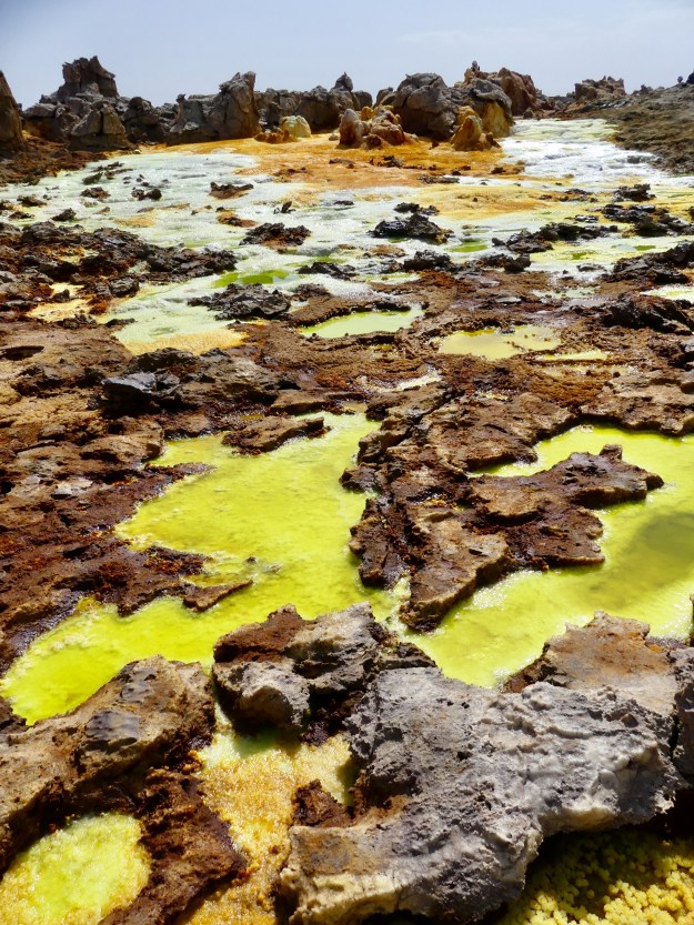 The stunning Dallol scenery