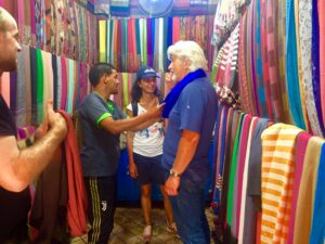 Ken doing his bit for the community in the Marrakesh markets