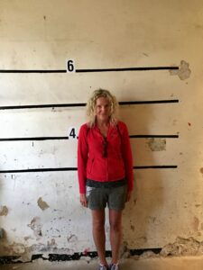WANTED!!! My mugshot taken at Oxford Castle