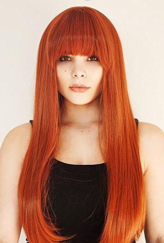 orange red wig