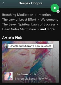 Sharon Lia The Sum of Us Deepak Chopra Spotify Artist Spotlight 5-30-2020