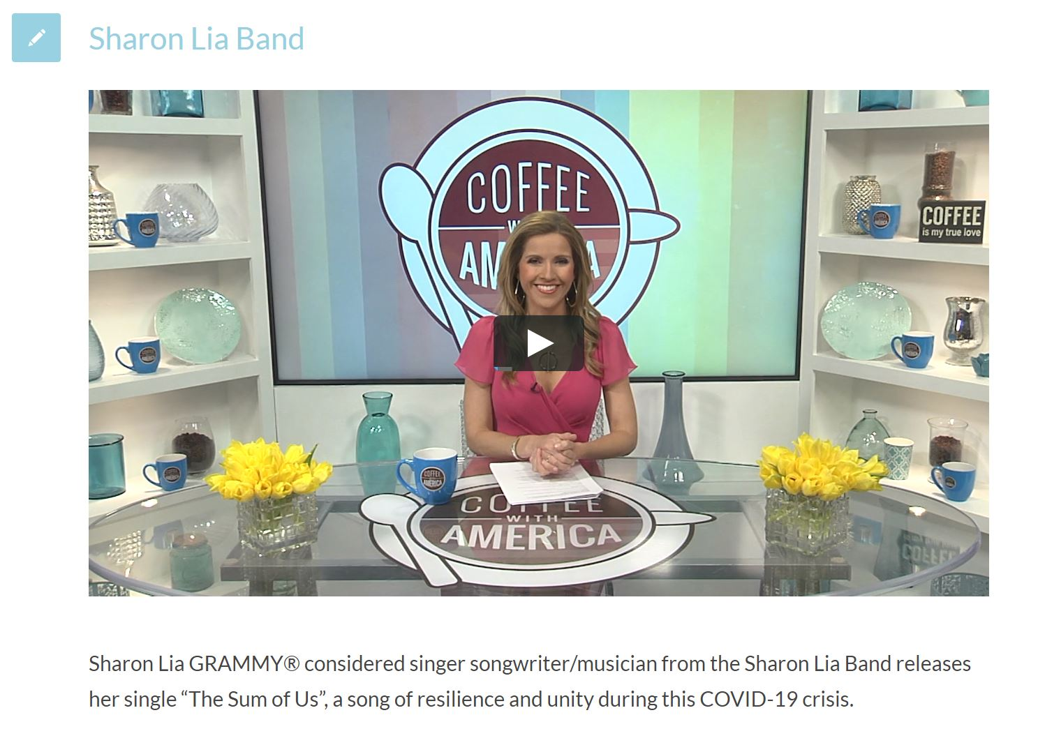 sharon lia on coffee with america