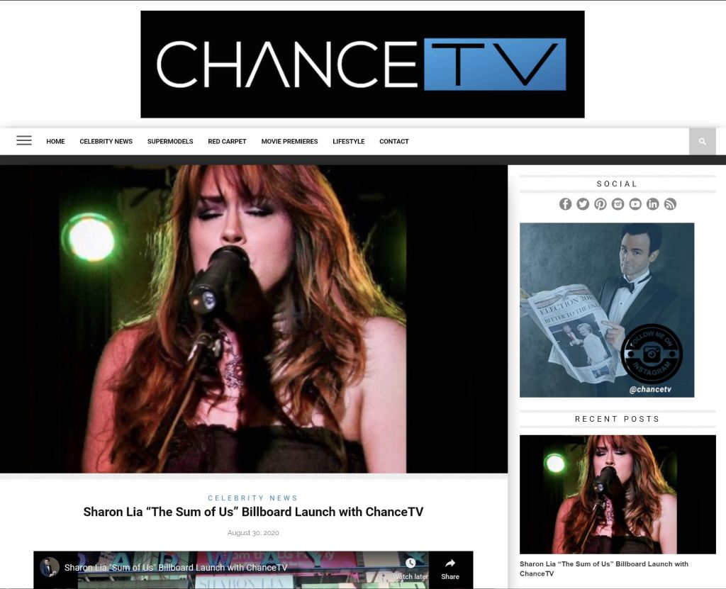 Chance TV interview and coverage with Sharon Lia