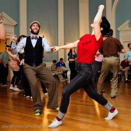 Dancing with Nathan Bugh at Lonestar Championships 2010, Austin Texas // Photo by David Holmes