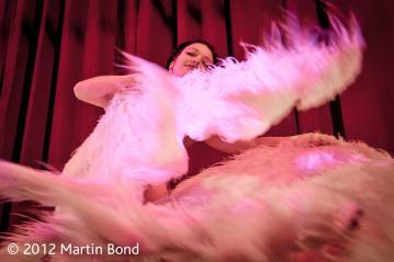 Burlesque show at Salon Rouge, Cambridge UK // Photo by Martin Bond