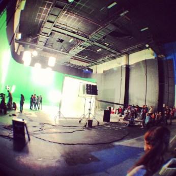 On set at the Ula Ula music video shoot