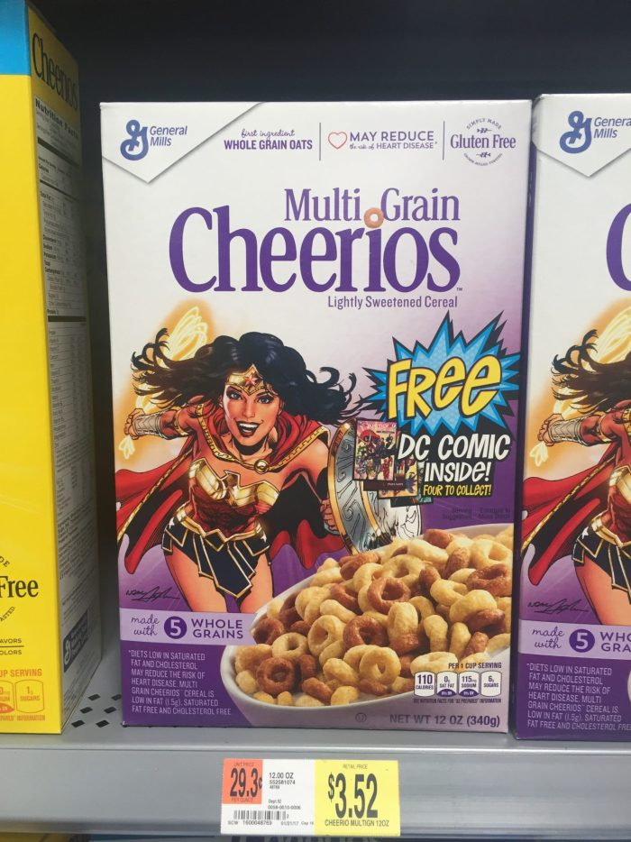 Wonder Woman Comic 2017 Cheerios Cereal Box 1