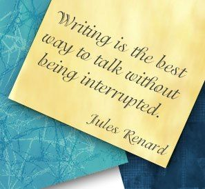 Jules Renard Quote - Writing Interrupted