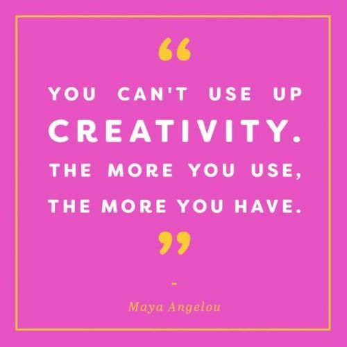 Maya Angelou Creativity Writing Quote