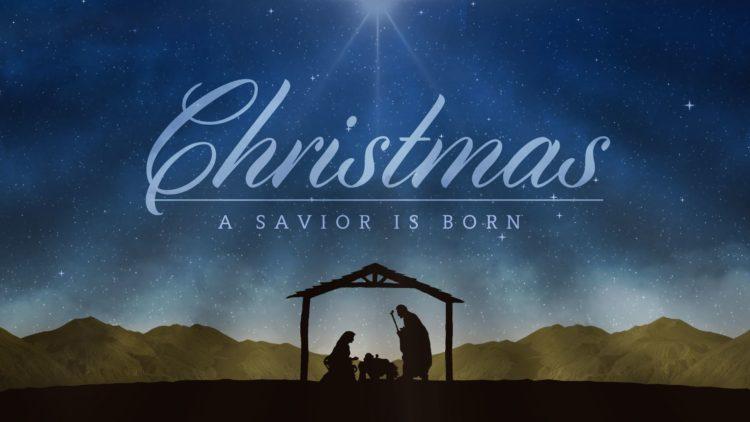 Merry Christmas 2018 Nativity Scene - Unto us a Child is Born - Isaiah 9 Verse 6-7