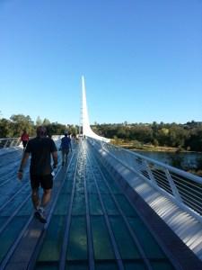 On the Sundial Bridge