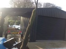 Steel Garage Building with car port