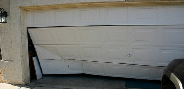 garage door was damage