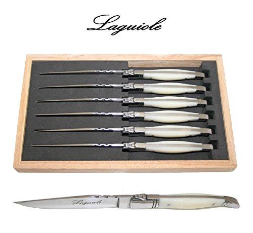 laguiole steak knives u2013 picasso ivory 6 piece steak knife set - Laguiole Steak Knives