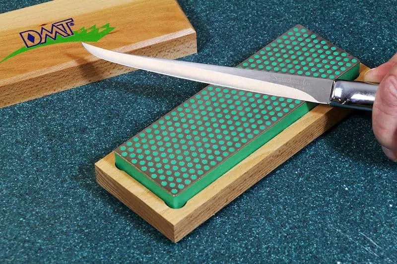 diamond stone and fillet knife