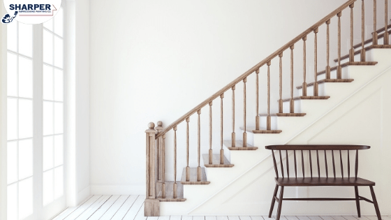 Should You Paint Or Stain Stairs And Railings In Your Home | Staircase Side Railing Designs | Stair Pattern | Simple | Residential | Italian | Entrance