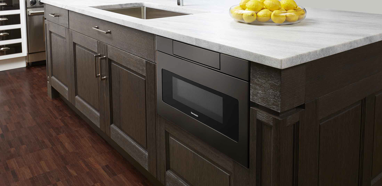 SMD2470AH 24 Black Stainless Steel Microwave Drawer