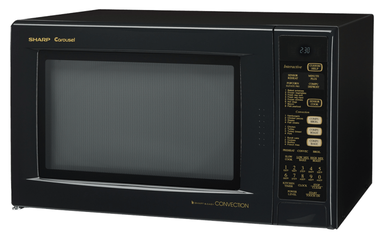 R 930AK Black Convection Microwave Oven 15 Cu Ft Oven