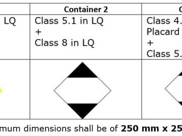 Example Container Marking for Dangerous Goods in Limited Quantities