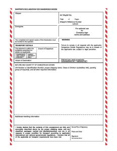IATA Shippers-Declaration