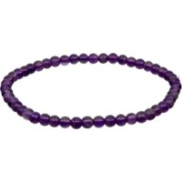 4mm Amethyst Stretch Bracelet for | Shasta Rainbow Angels