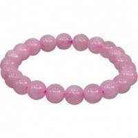 8mm Rose Quartz Stretch Bracelet | Shasta Rainbow Angels