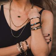 Belonging Heart Upon Heart Hematite Bracelet | Shasta Rainbow Angels