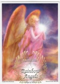 Angel of Bliss (AB1) - 5X7 Laminated Altar Card | Shasta Rainbow Angels