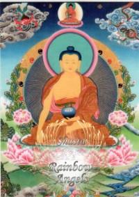 Buddha Shakyamuni (BU) - 5X7 Laminated Altar Card   Shasta Rainbow Angels