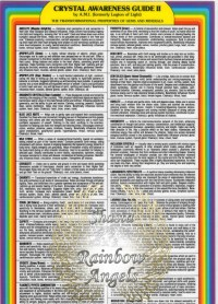 Crystal Awareness Guide (C2) - 8X13 Laminated Card | Shasta Rainbow Angels