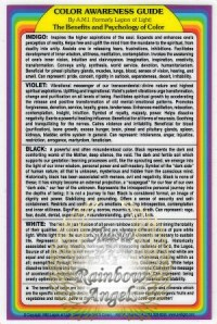 Color Awarness Guide (CG) Laminated 4x6 Art Print | Shasta Rainbow Angels