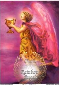 Archangel Chamuel (CH1) - 5X7 Laminated Altar Card | Shasta Rainbow Angels