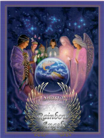Healing Presence (HP) Laminated 5x7 Art Print | Shasta Rainbow Angels