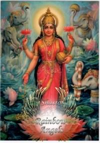 Lakshmi (LK1) - 5X7 Laminated Altar Card | Shasta Rainbow Angels