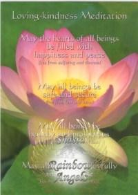 Loving Kindness Meditation(LKM) - 5X7 Laminated Altar Card   Shasta Rainbow Angels