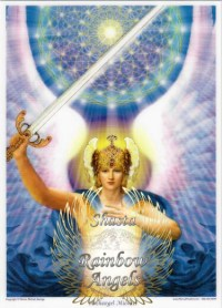 Archangel Michael (MC2) - 5X7 Laminated Altar Card | Shasta Rainbow Angels