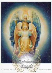 Michael and Faith (MF) - 5X7 Laminated Altar Card | Shasta Rainbow Angels