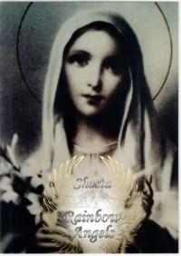 Mother Mary (MM1) Laminated 5x7 Art Print | Shasta Rainbow Angels