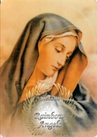 Mother Mary (MM7) Laminated 5x7 Art Print | Shasta Rainbow Angels