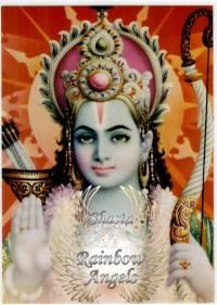 Rama (RA) - 5X7 Laminated Altar Card | Shasta Rainbow Angels