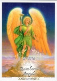 Archangel Raphael (RL) - 5X7 Laminated Altar Card | Shasta Rainbow Angels