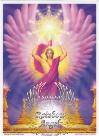 Archangel Uriel (UR) - 5X7 Laminated Altar Card | Shasta Rainbow Angels