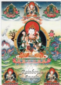 Vajrasattva (VS4) - 5X7 Laminated Altar Card | Shasta Rainbow Angels